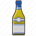 alcohol, booze, bottle, chardonnay, white wine icon