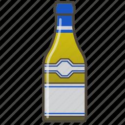 alcohol, booze, bottle, chardonnay, white wine icon