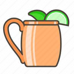 alcohol, booze, cocktail, drink, moscow mule icon