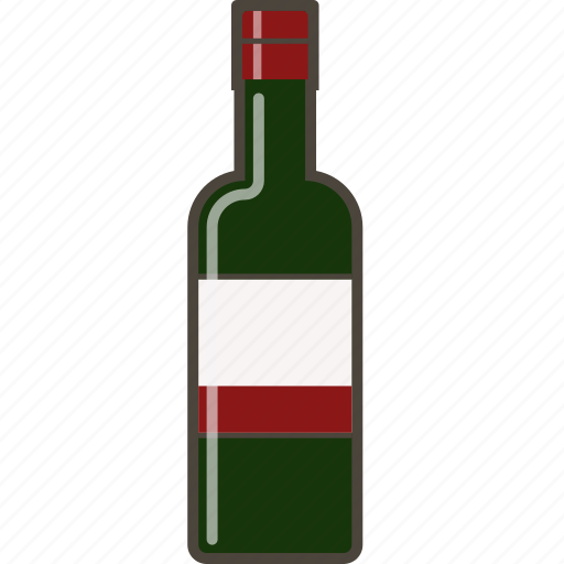 alcohol, bottle, red, red wine, wine icon