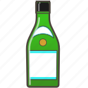 alochol, bottle, drink, sake icon