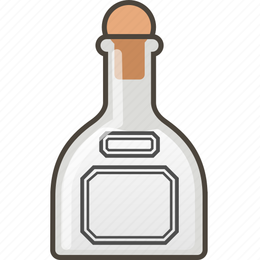 booze, bottle, shot, silver, tequila icon