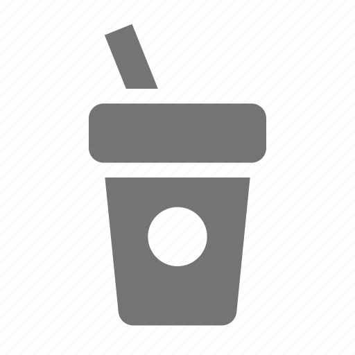 beverage, coffee, cup, drink, straw icon
