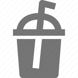 beverage, cup, drink, glass, straw icon