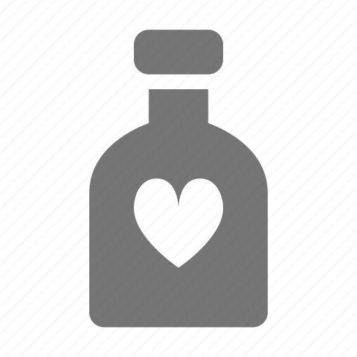 beverage, bottle, heart, like icon