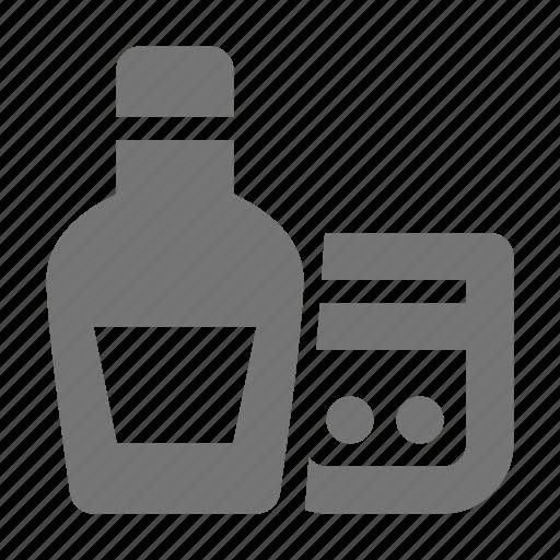 beverage, bottle, drink, whiskey icon