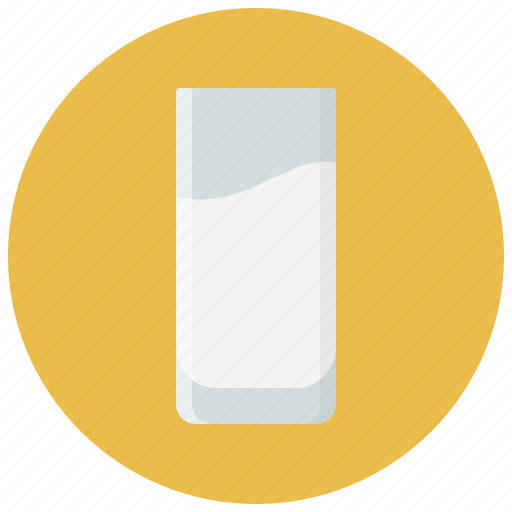 beverage, drink, drink glass, food, glass, milk, soft drink icon