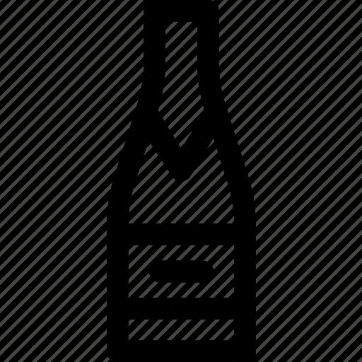 alcohol, beverage, bottle, celebration, champagne, drink, new year icon