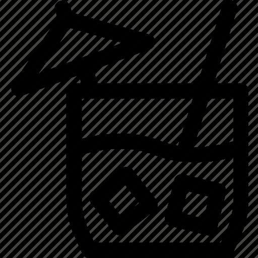alcohol, beverage, cocktail, drink, glass, straw, umbrella icon