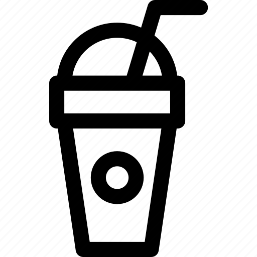 beverage, cup, ice, juice, refreshing, straw, tea icon
