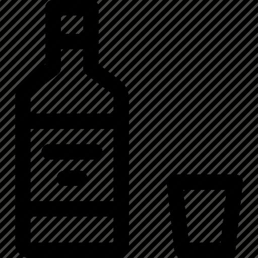 alcohol, beverage, bottle, drink, glass, liquor, spirit icon