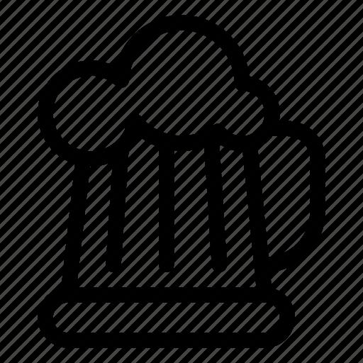 alcohol, bar, beer, beer-mug, drinks, line-icon, mug icon
