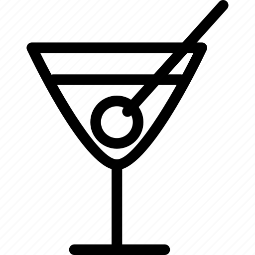alcohol, cocktail, cocktail-glass, drinks, glass, line-icon, wine icon