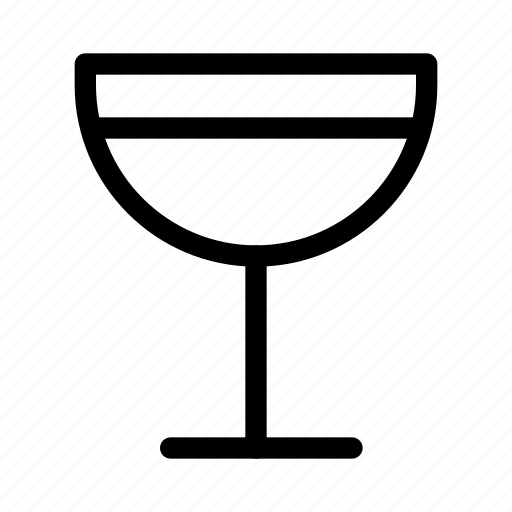alcohol, beverage, cocktail, cocktail-glass, glass, line-icon, mixed-drink icon