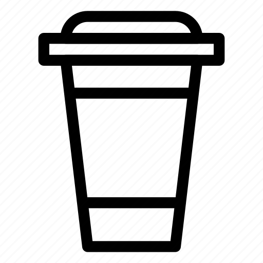 beverage, coffee, coffee-go-to, cold-coffee, container, hot-coffee, line-icon icon