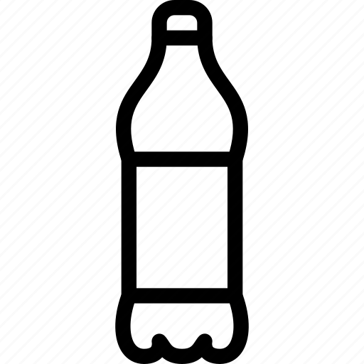 bottle, container, drinks, line-icon, pet, pet-bottle, storage icon