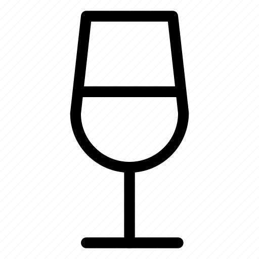 alcohol, drinks, fermented-drink, glass, line-icon, wine, wine-glass icon