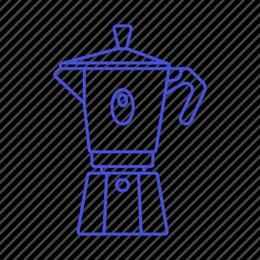 coffee, drinks, espresso, maker, moka, pot, stovetop icon