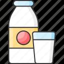 bottle, calcium, dairy, milk icon