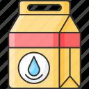 calcium, dairy item, milk, milk pack icon