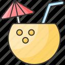 coconut, drink, refreshing, summer drink