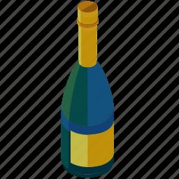 alcohol, bottle, celebration, champagne, drink icon