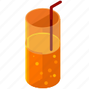 beverage, drink, glass, juice, soda, straw icon