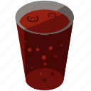 beverage, drink, glass, soda, soft icon