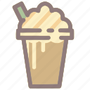 beverage, caramel, coffee, drink, frappe, iced coffee icon