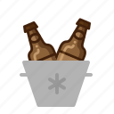 beer, cold, drinks, icebucket icon