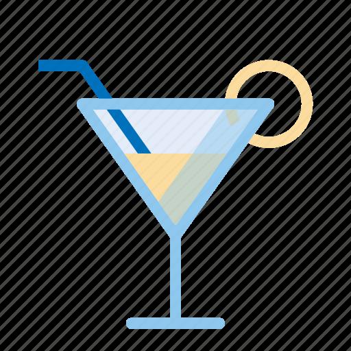 cocktail, drinks, glass, straw icon