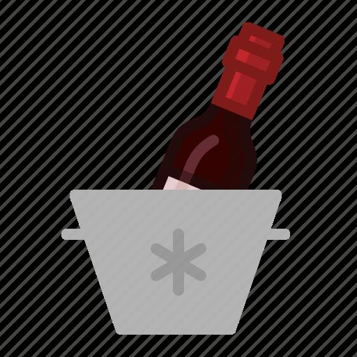 bucket, drinks, ice, wine icon