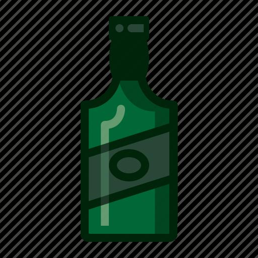 bottle, gin, spirits, whiskey icon