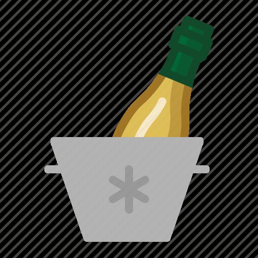 cold, drinks, icebucket, wine icon