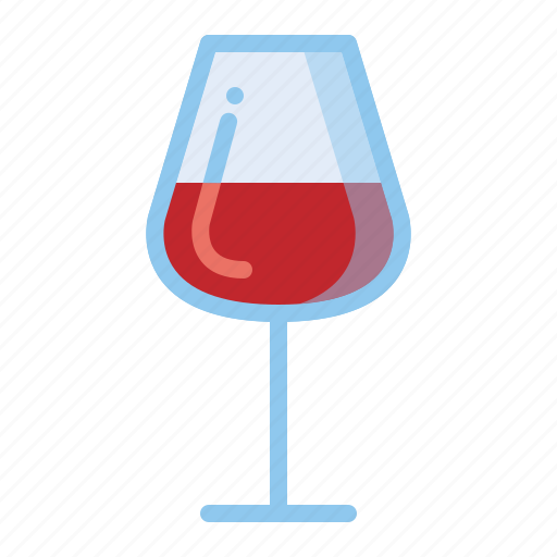 drinks, red, wine, wineglass icon
