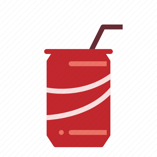 can, drinks, soft-drink, straw icon
