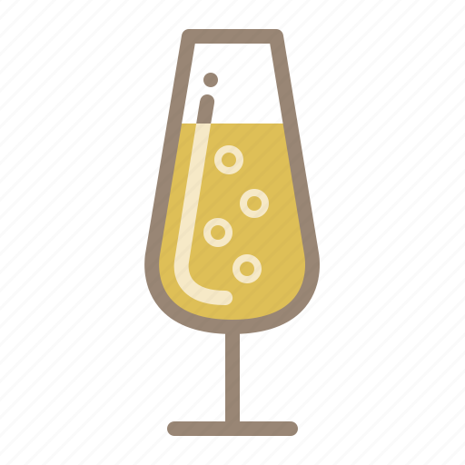 bubbles, champagne, drinks, glass icon