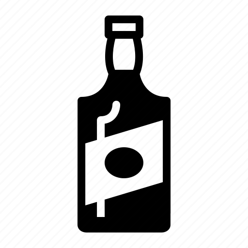 bottle, drinks, gin, whiskey icon