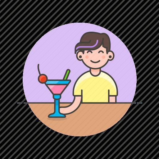 bar, cocktail, drink, glass, pub, restaurant, woman icon