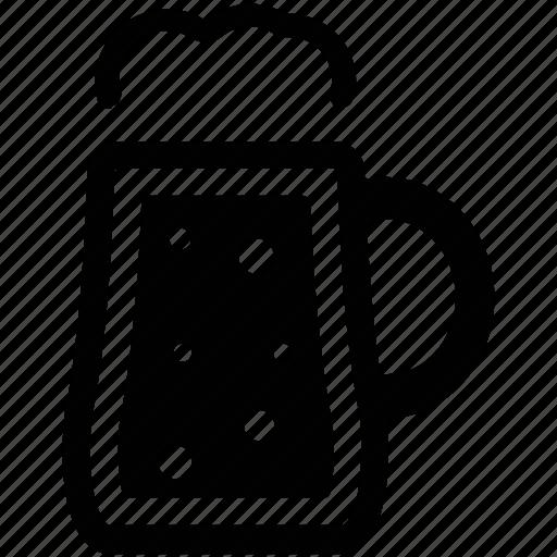 alcohol, alcoholic beverage, ale, beer mug, beverage, cold beer, mug of beer icon