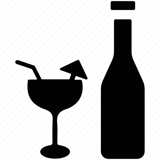 alcohol, alcoholic drink, bottle, cocktail, drink icon