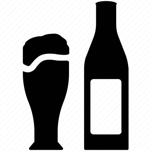 alcohol, alcoholic beverage, beer, beer bottle, beer glass, drink icon