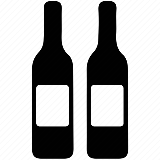 alcohol, alcoholic bottles, alcoholic drink, beverage, bottles, drink icon