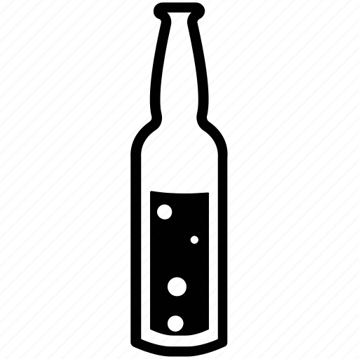 alcohol, alcoholic beverage, alcoholic drink, bottle, fizzy drink icon