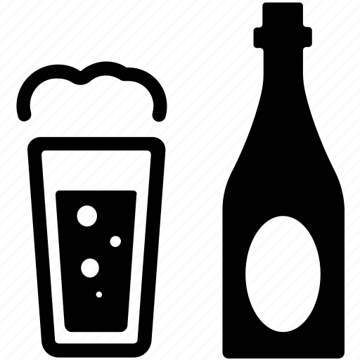 alcohol, alcoholic beverage, ale, ale beer, beer bottle, beer glass, drink icon
