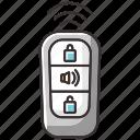 car key, keyless entry, keyless entry icon, safety locks icon