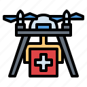 care, drone, health, medical, transport icon