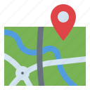 drone, location, map, pin, point icon