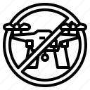 drone, forbidden, no, signal, transportation, zone icon