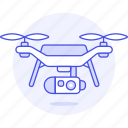 2, aerial, aircraft, camera, drone, uav, unmanned, vehicle icon